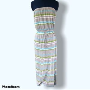Banana Republic | Striped Strapless Casual dress